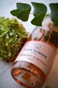 Le crémant d'Alsace Rosé Louis Scherb
